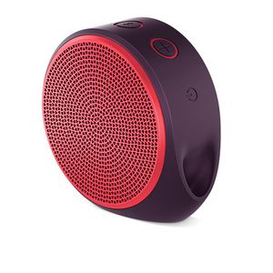 Caixa-de-Som-Mini-Bluetooth-X100-Mobile-Wireless-Speaker-Vermelha-e-Roxa-Logitech