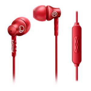Fone-de-Ouvido-Deep-Bass-c-Microfone-Vermelho-Philips-SHE8105RD