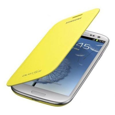Capa-Flip-Cover-Amarela-para-Galaxy-S3-Samsung-EFC-1G6FYECSTD
