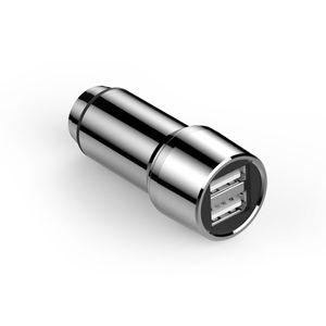 Carregador-Veicular-Universal-Dupla-Saida-USB-3-4A-Aco-Inoxidavel-Geonav-CH34SS