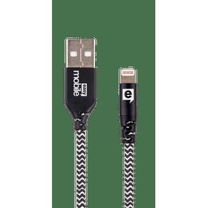 Cabo-Lightning-e-Micro-USB-Force-1.2M-Zebra-Preto-e-Branco---Easy-Mobile-CBFORCL12ZB