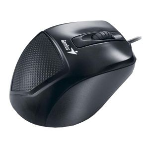Mouse-Ergonomico-Optico-com-fio-USB-Preto-Genius-DX-150