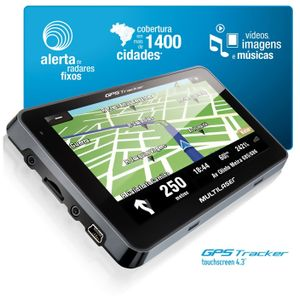 GpsTracker3TouchscreeneTela43MultilaserGp033