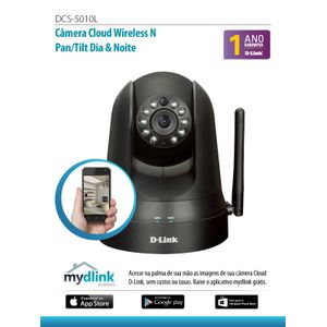 Camera-IP-Cloud-Wireless-N-Pan-Til-Dia-e-Noite-D-link-DCS-5010L