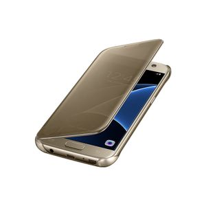 Capa-Clear-View-Cover-Dourada-Galaxy-S7-Samsung