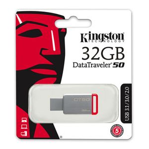 Pen-Drive-32GB-Data-Traveler-USB-3-1-3-0-2-0-Vermelho-Kingston-DT50-32GB