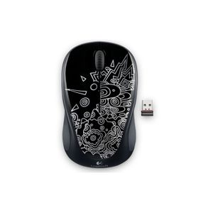 Mini-Mouse-Wireless-sem-fio-M317-Preto-Estampado-Logitech