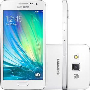 Samsung-Galaxy-A3-Duos-Dual-Chip-Desbloqueado-Android-4.4-Tela-4.5---16GB-Wi-Fi-4G-Camera-8MP-Branco---SM-A300M-W