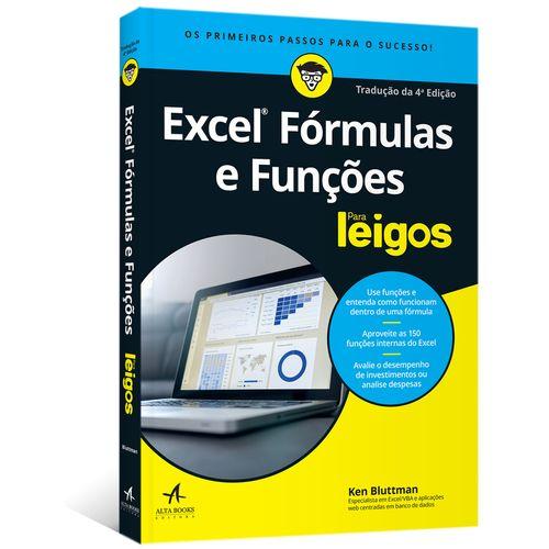 f29ae7a8f3 Excel Fórmulas e Funções Para Leigos - Tradução da 4ª edição