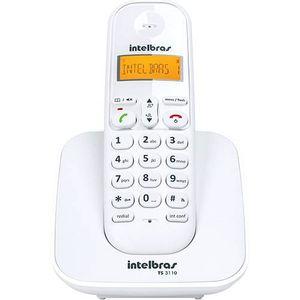 Telefone-sem-fio-digital-branco---Intelbras-TS3110