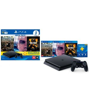 Console-Sony-PlayStation-Hits-Bundle-5.1-1TB---Days-Gone---Detroit-Become-Human---Call-of-Duty-Black-Ops-4---CUH-2214B