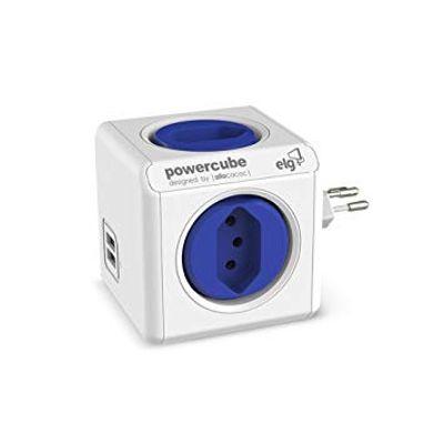 Filtro-Tomadas-PowerCube-4-Tomadas-e-2-USB-Branca-Elg---PWC-R4U