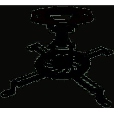 Suporte-de-Teto-para-Projetor-ate-135kg-Preto-Elg