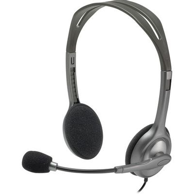 Headset-Analogico-H111-Estereo---Cinza---Logitech