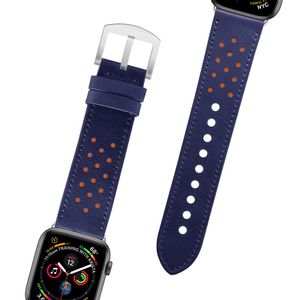 Pulseira-Apple-Watch-38-40-Couro-Azul-e-Laranja-Geonav