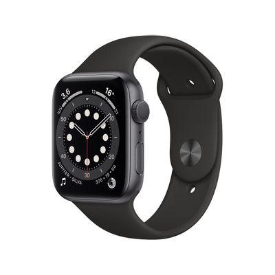 Apple-Watch-Series-6-44mm-Cinza-espacial-GPS---Pulseira-Esportiva-Preta