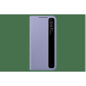 Capa-protetora-Samsung-Galaxy-S21--Smart-Clear-View-Violeta