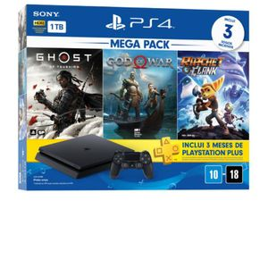 Console-PlayStation-4-Mega-Pack-18---Ghost-of-Tsushima-God-of-War-e-Ratchet---Clank---Sony
